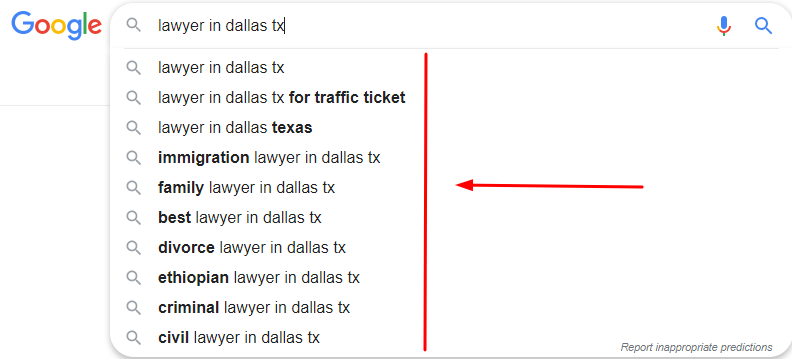 Dallas Lawyer SEO Keywords