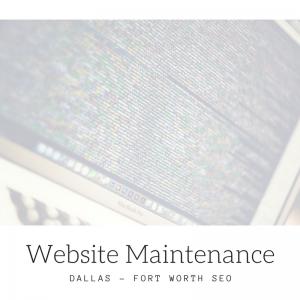 DFW SEO Website Maintenance Graphic