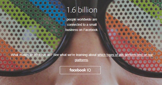 The Homepage of Facebook's Ad Platform