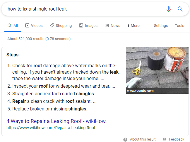 Ranking #1 on Google Through a Featured Snippet