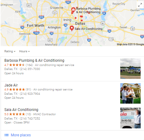 Google Maps Screenshot DFW