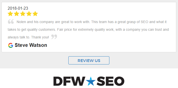 Business Reviews for DFW SEO