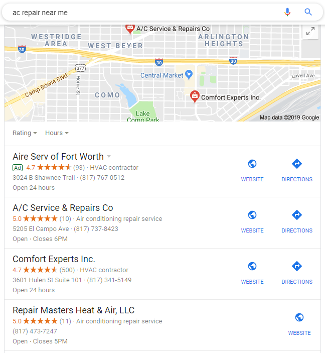 Ranking #1 on Google Through a Local Service Pack