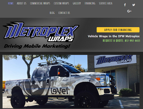 Custom Website Design for a Vehicle Wrap Company